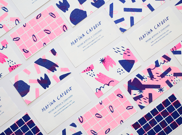 2. Handmade Feel | 9 Examples of Good Business Cards