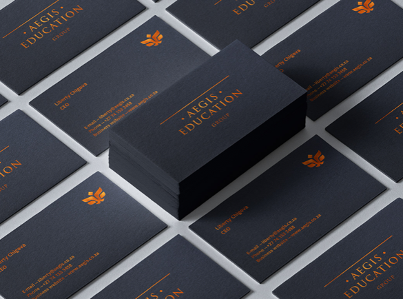 1. Simple, yet Striking | 9 Examples of Good Business Cards