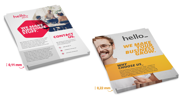 Price depending on the paper thickness | How Much Do Flyers Cost?