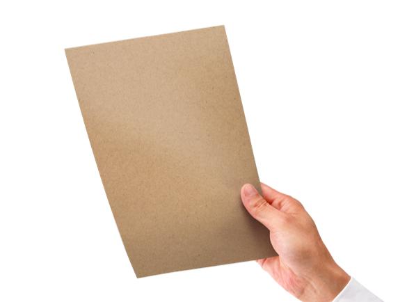 Flyers Eco de papel kraft marrón