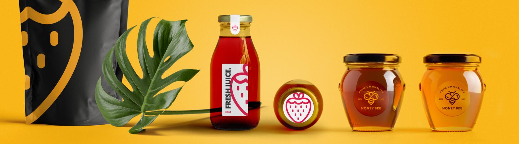Packaging de comida muy económico con etiquetas impresas